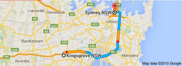 Kingsgrove Sydney Map