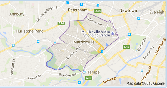 Marrickville Map