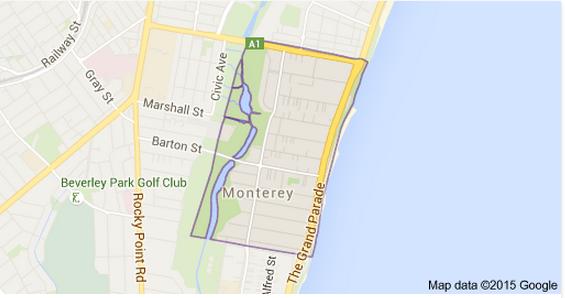 Monterey Sydney Map